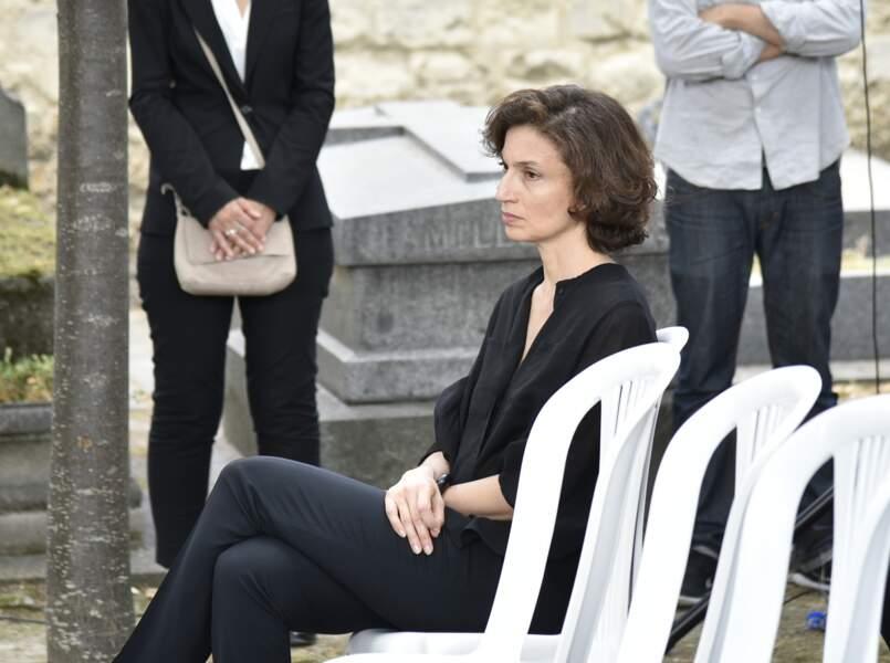 L'ancienne ministre de la Culture, Audrey Azoulay, aux obsèques de Claude Lanzmann à Paris