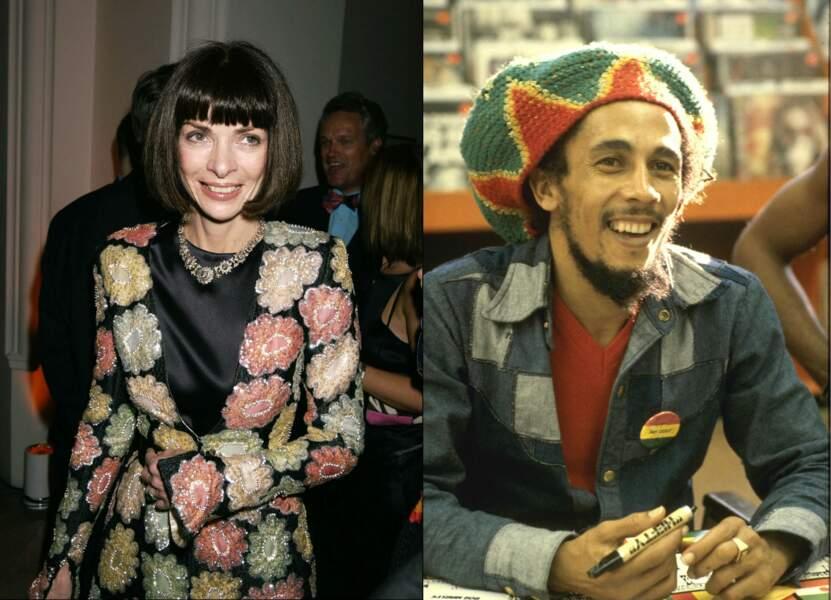 Anna Wintour et Bob Marley
