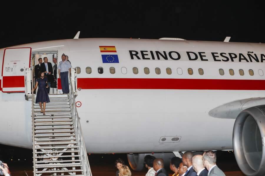 La reine Letizia d'Espagne est arrivée au Mozambique dimanche 28 avril