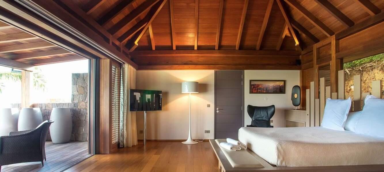 La villa Joy de Laeticia Hallyday à Saint-Barth : l'une des six chambres