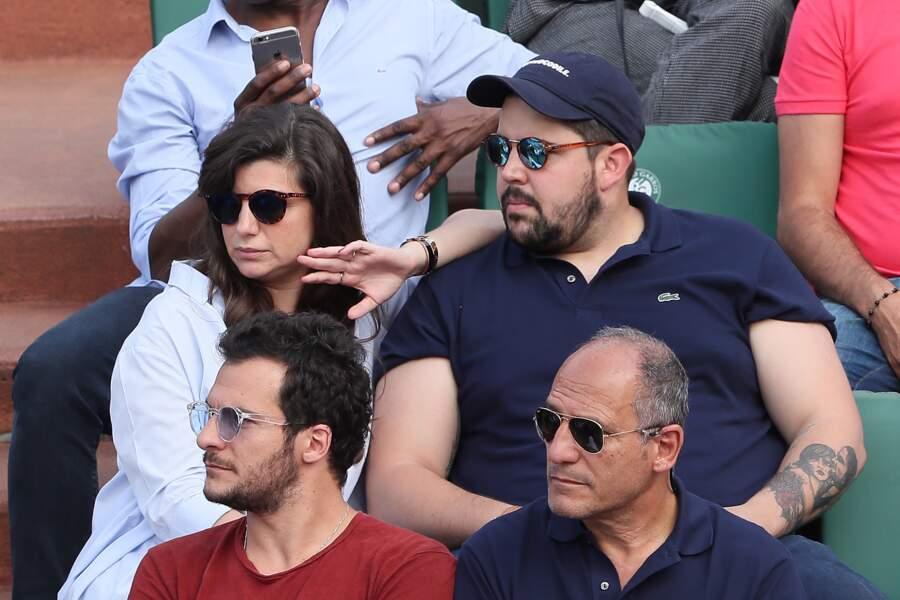 Artus et sa compagne Sarah Nasrallah à Roland Garros le 3 juin 2018