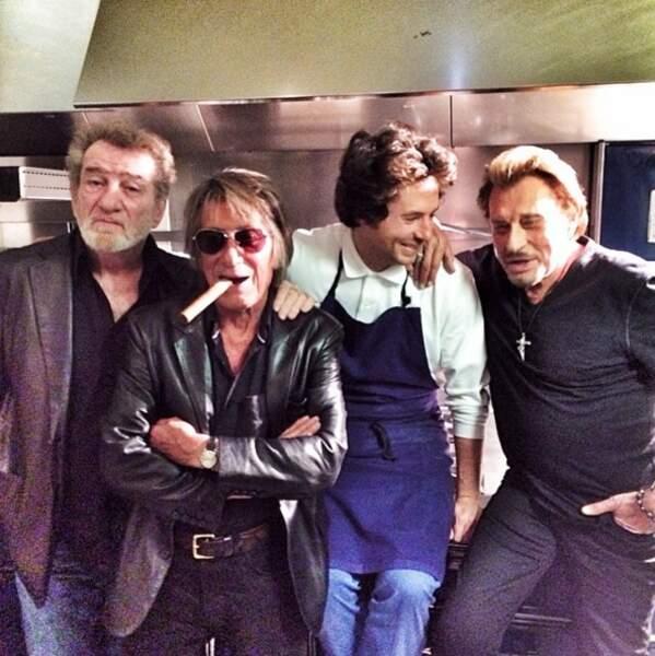 Jean Imbert aux côtés de Johnny Hallyday, Eddy Mitchelle et Jacques Dutronc