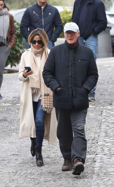 Richard Gere et Alejandra Silva le 17 février 2018