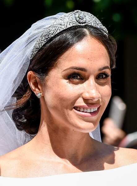 Meghan Markle, duchesse de Sussex, en calèche à la sortie du château de Windsor après son mariage le 19 mai 2018