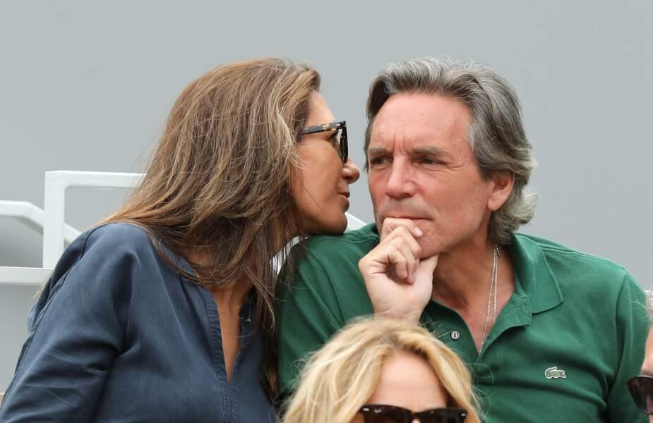 Anne-Claire Coudray et son mari Nicolas Vix à Roland Garros, le 3 juin 2019.