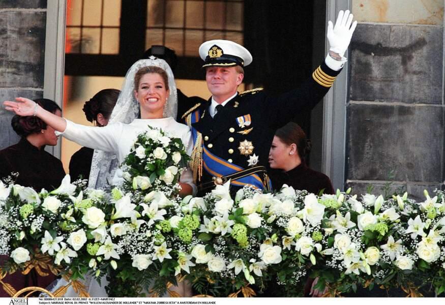 Mariage de Willem Alexander de Hollande et Maxima à Amsterdam le 2 février 2002