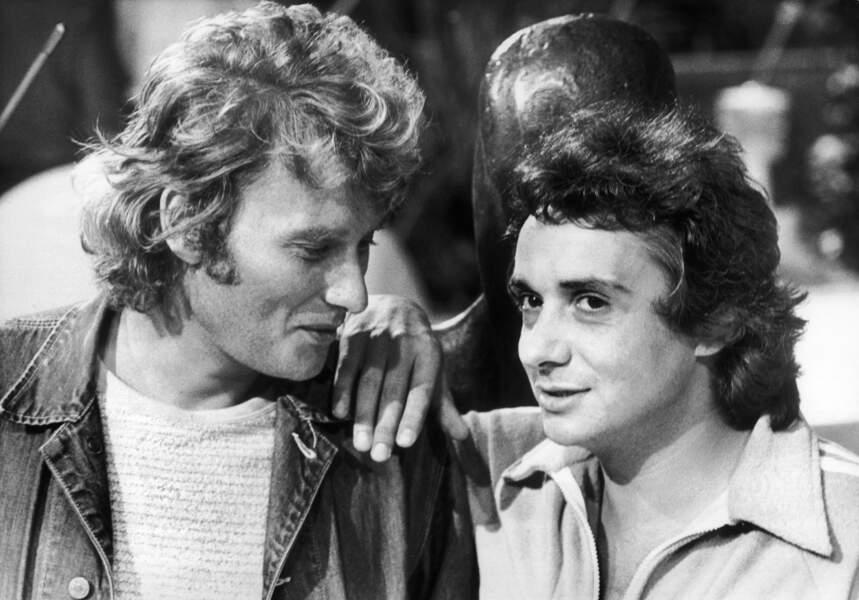 Johnny et Michel, complices dans l'humour