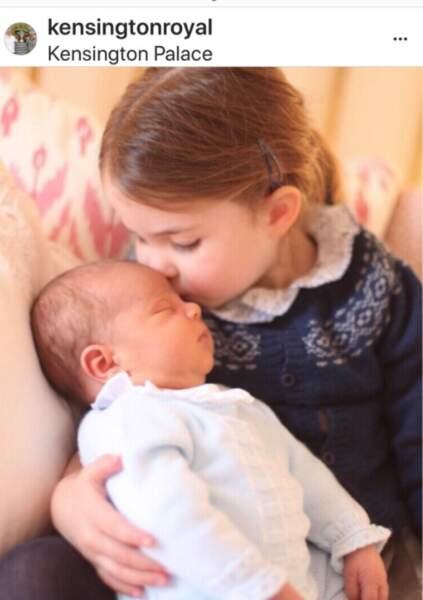 La princesse Charlotte et son petit frère Louis
