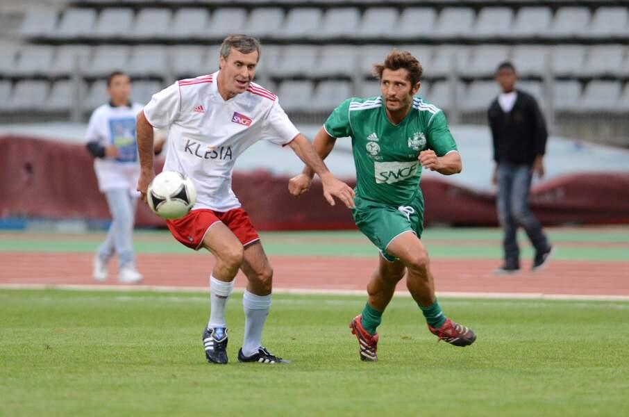 Jérôme Cahuzac concentré sur le jeu au stade Charléty en 2012