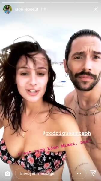 Jade Leboeuf et son mari Stéphane Rodrigues en pleine rafale de vent