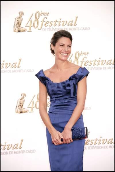 Alessandra Sublet et son chignon glamour, au festival de la television de Monte Carlo, en 2008