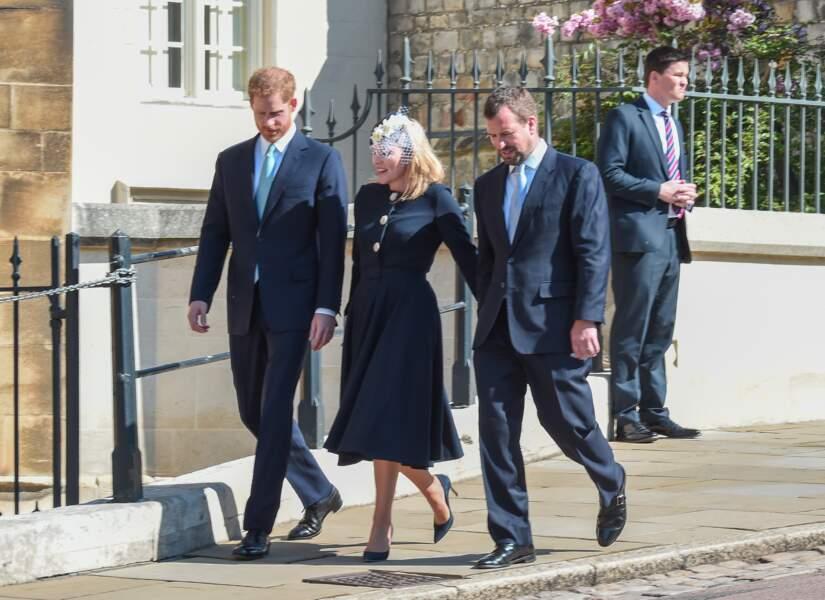 Le prince Harry était escorté par ses cousins Peter et Autumn Phillips