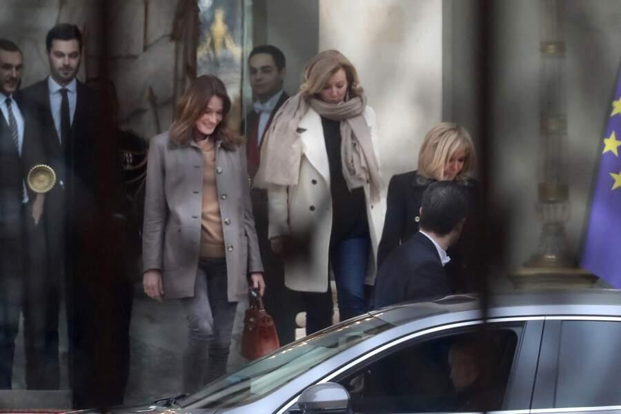 L'épouse d'Emmanuel Macron avait déjà reçu Bernadette Chirac en septembre 2017