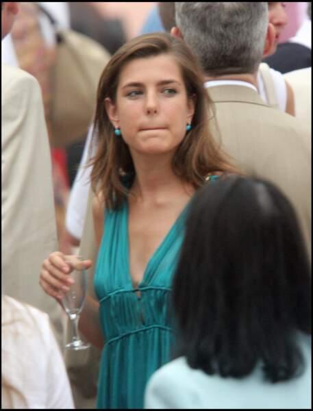 Charlotte Casiraghi lors de la cérémonie de l'avènement du prince Albert II de Monaco le 12 juillet 2005.