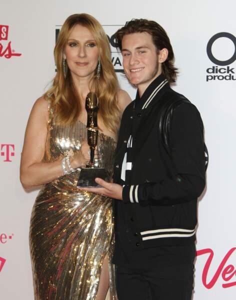 Céline Dion et René Charles à la soirée des Billboard Music Awards à Las Vegas, le 22 mai 2016