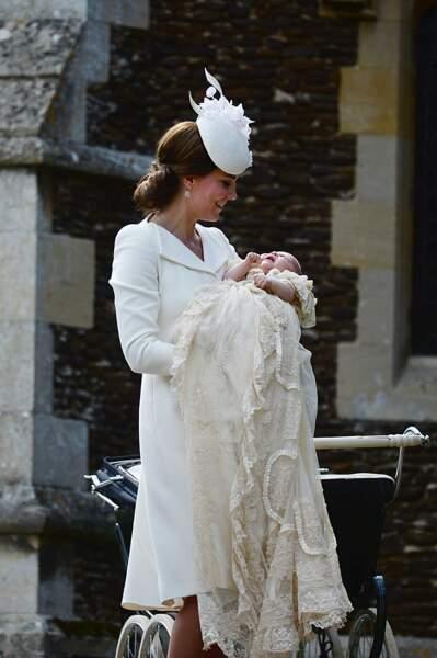 La duchesse de Cambridge et sa fille, la princesse Charlotte