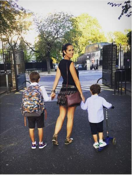 Elisa Tovati et ses deux fils, Joseph et Léo