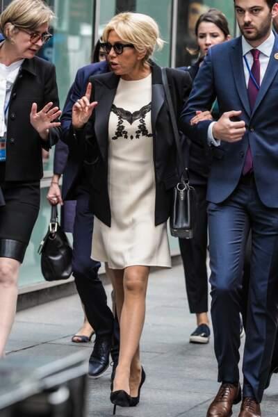 Brigitte Macron élégante, fidèle à elle-même à New York