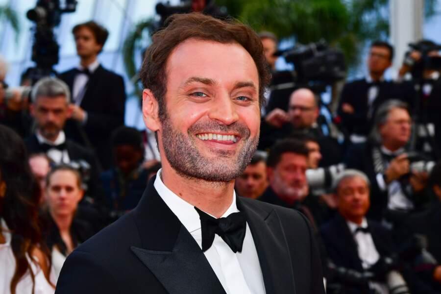 """Augustin Trapenard à la première du film """"Les Misérables"""", le 15 mai 2019"""