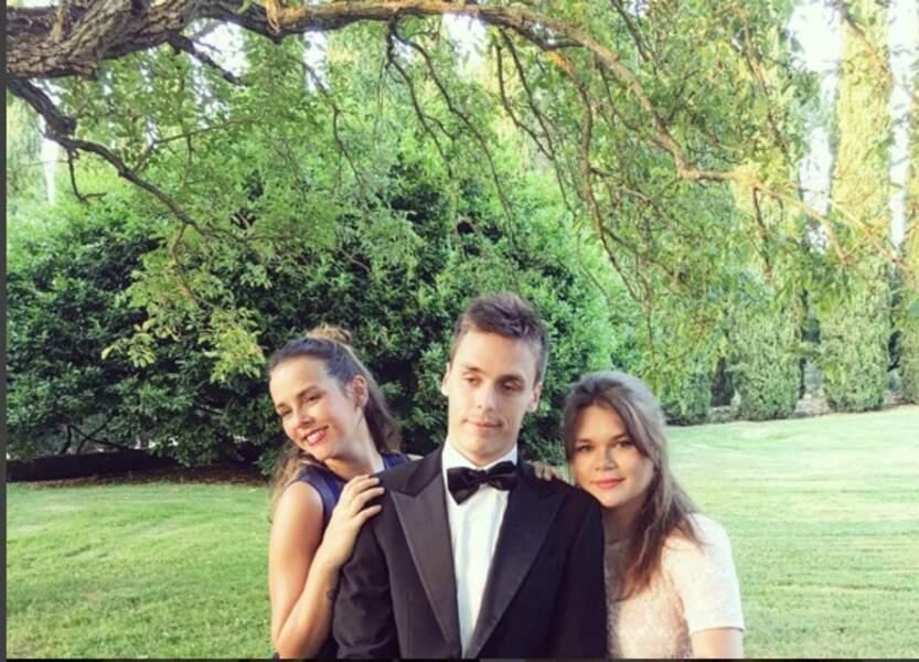 Les trois Mousquetaires Pauline, Louis et Camille, été 2016, au mariage d'une cousine en Italie