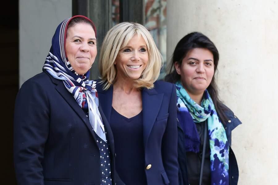 Brigitte Macron a reçu Latifa Ibn Ziaten,la mère du premier militaire assassiné par Mohammed Merah