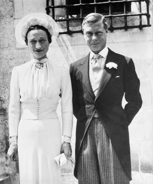 Portrait de Wallis Simpson et Edouard VIII lors de leur mariage à Monts en juin 1937