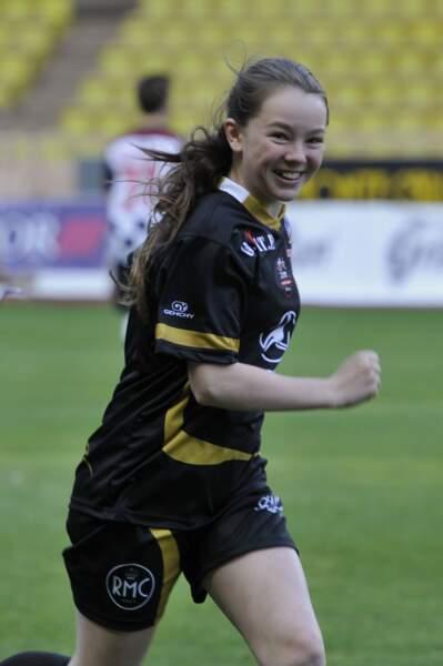 Alexandra de Hanovre au match de Football de Charité le 22 mai 2012