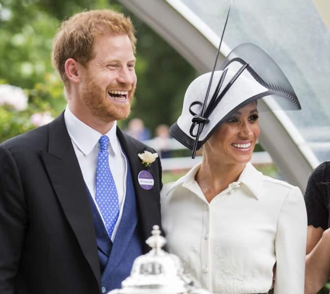 Meghan Markle radieuse avec le prince Harry