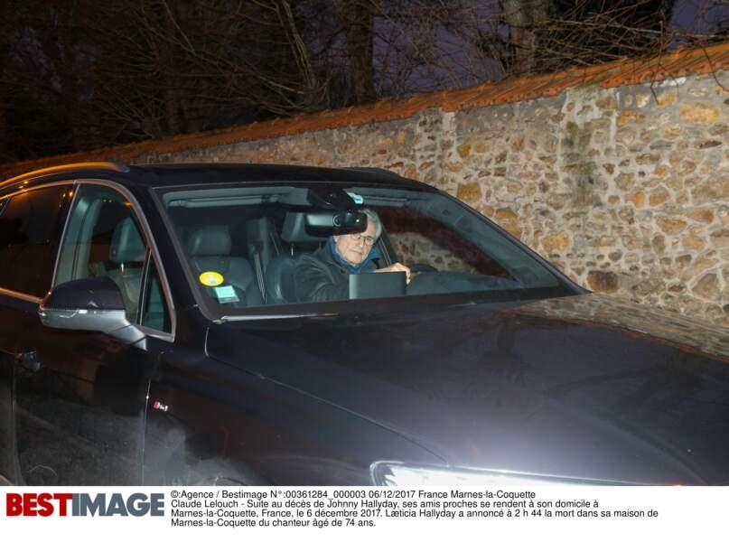 Arrivée de Claude Lelouch à Marnes-la-Coquette, suite au décès de Johnny Hallyday