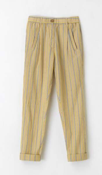 Pantalon rayé en coton, Laurence Bras - 169€