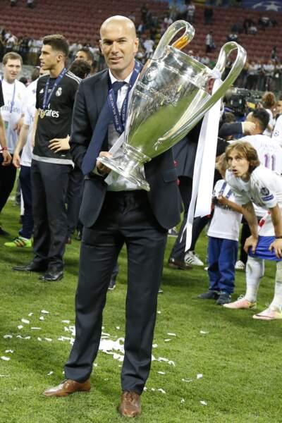 Zidane entraîneur vainqueur - ABACA