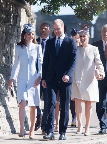 Aux côtés des époux de Cambridge, on remarquait notamment la cousine du prince, Zara Tindall