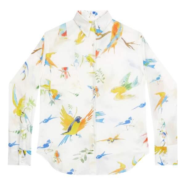 Chemise en coton coupe boyfriend et imprimé « Flying Birds », G.Kero, 149 €.