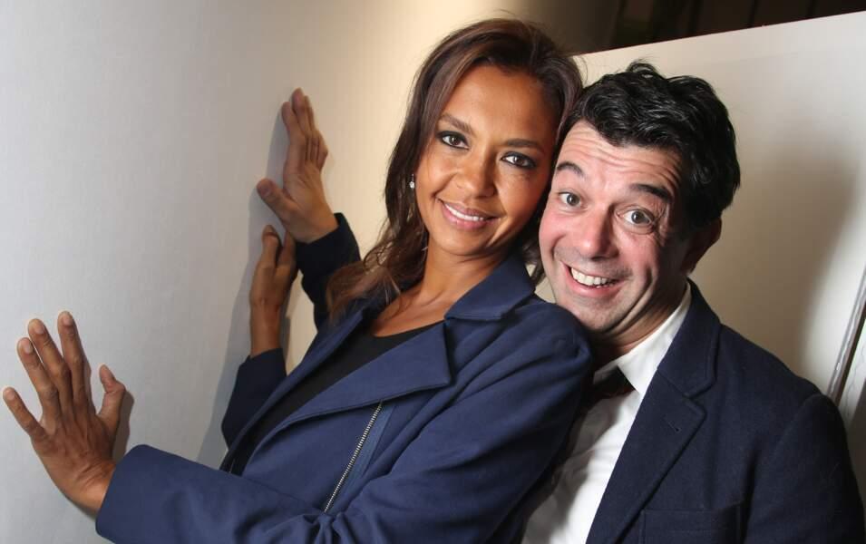 Stéphane Plaza et Karine Le Marchand à la FIAC au Grand Palais à Paris, le 22 octobre 2014