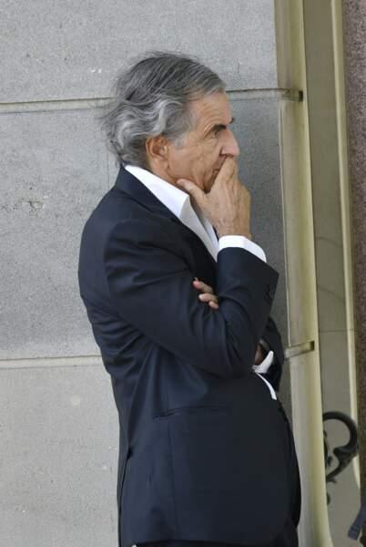 Bernard-Henri Lévy, ému, aux obsèques de Claude Lanzmann le 12 juillet