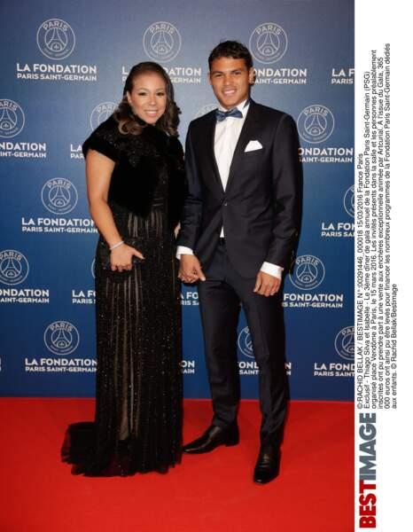 Thiago Silva (en Hugo Boss)  et Isabelle