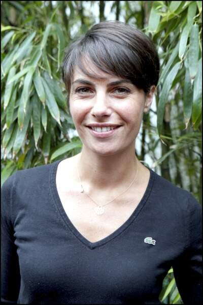 Alessandra Sublet et sa coupe courte avec frange, à Roland Garros en 2010