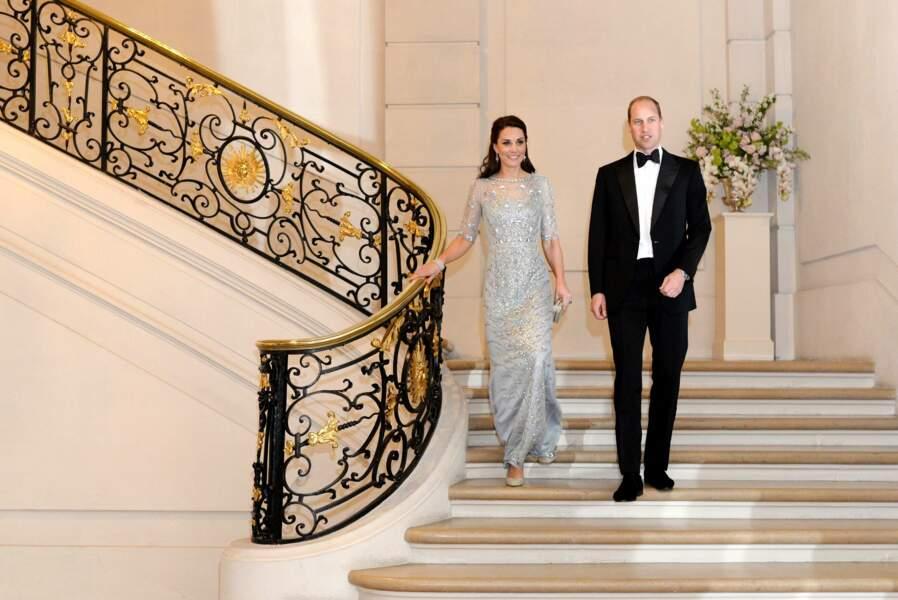 Kate et William, sublimes à l'ambassade de Grande-Bretagne à Paris