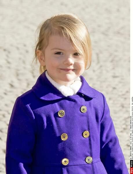 En février, la petite princesse Estelle de Suède a fêté ses trois ans