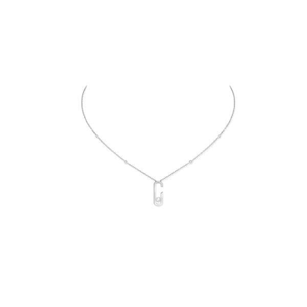 Collier diamant et or blanc, 18 carats, Move Addiction Messika by Gigi Hadid