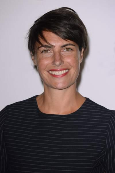 Alessandra Sublet et sa coupe courte effet coup de vent, au Palais de Tokyo à Paris en 2013