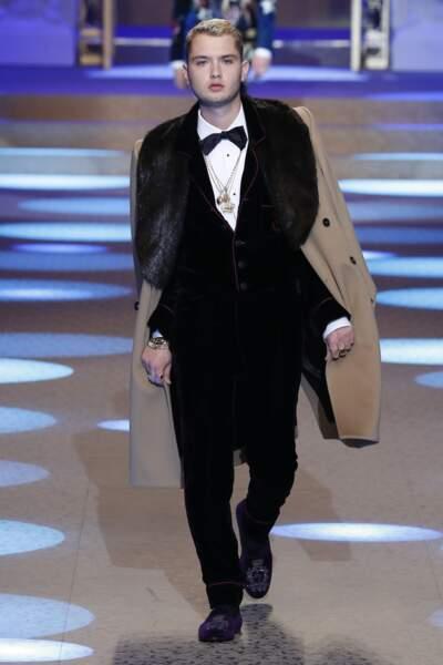 Rafferty Law, le fils de Jude Law,  s'est aussi illustré lors du défilé Dolce & Gabbana