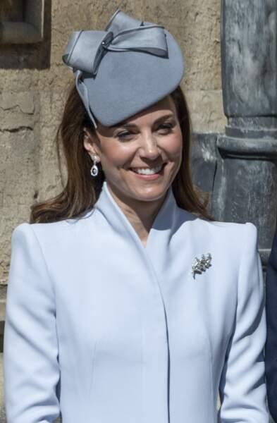 Lors de la dernière messe de Pâques, Kate était tout simplement rayonnate