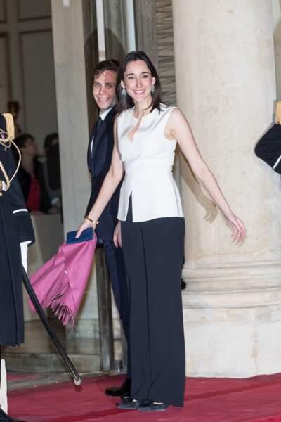 Brune Poirson et son mari à l'Elysée pour un dîner à l'Elysée avec le grand-duc du Luxembourg