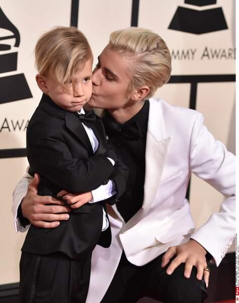 Justin Bieber et son petit frère, Jaxon