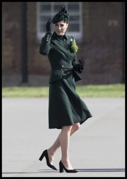Le vert est certes la couleur emblématique de l'Irlande, mais c'est aussi l'une des couleurs préférées de Kate.