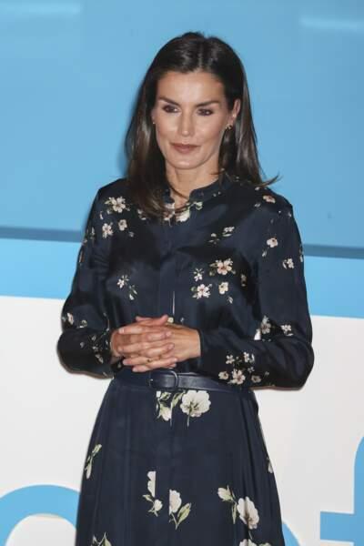 """La reine Letizia d'Espagne lors de la cérémonie de remise des prix """"Unicef Comite Espanol"""" à Madrid. Le 10 juin 2019"""