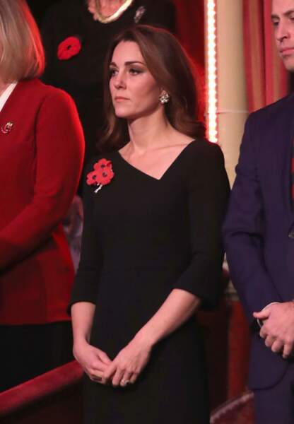Kate Middleton et le prince William lors d'une soirée commémorant l'armistice de 1918.