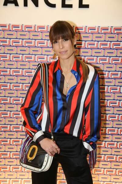Laury Thilleman à la présentation Lancel, lors de la Paris Fashion Week, le 27 février 2019.