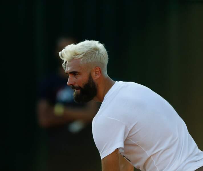 Benoit Paire lors d'un entrainement à Roland Garros le 24 mai 2018